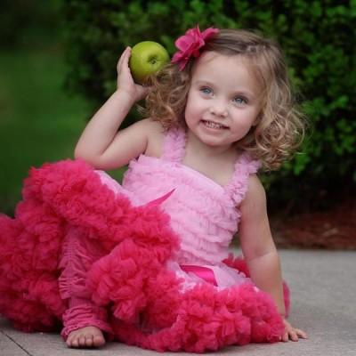 Huggalugs Light Pink & Bubblegum Pink Pettiskirt
