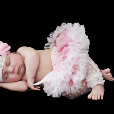 Huggalugs Light Pink & White Newborn Pettiskirt