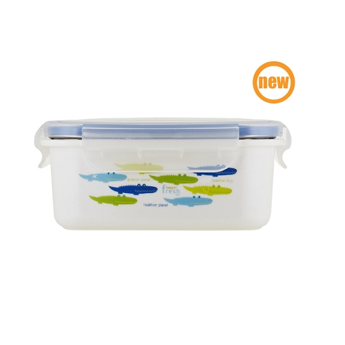 Keepin' Fresh Kids Stainless Bento - Alligator Blue