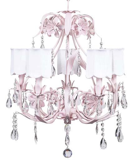 Ballroom Chandelier- Pink/White