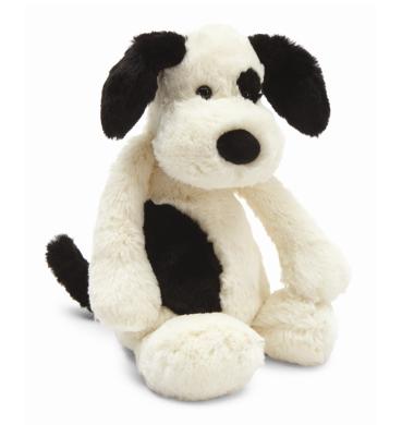 Jellycat Bashful Black & Cream Puppy - Large