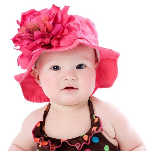 Raspberry Sun Hat with Raspberry Peony