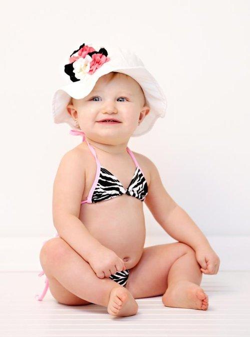 Babi-Kini - Zebra Baby Bikini