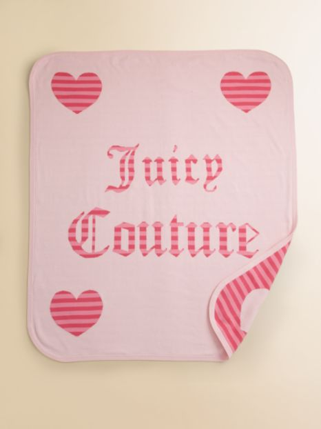 Juicy Couture Reversible Blanket - Gift Box
