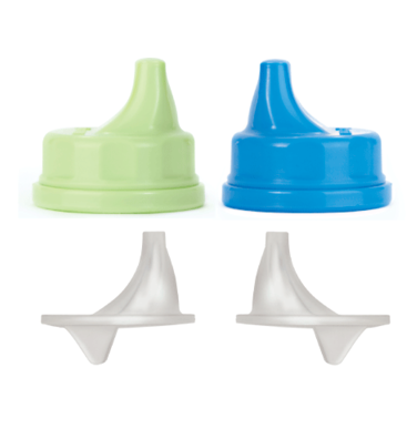 Lifefactory Sippy Cap Set 2- pack Spring Green/Ocean