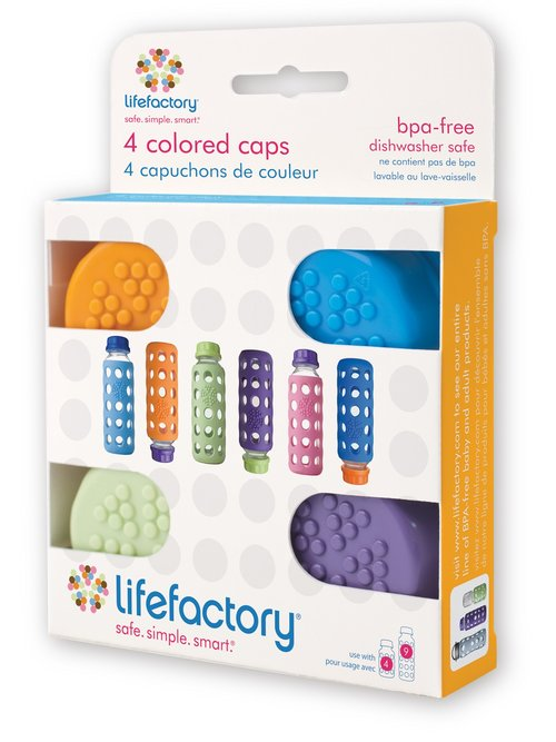 Lifefactory Colored Cap Set