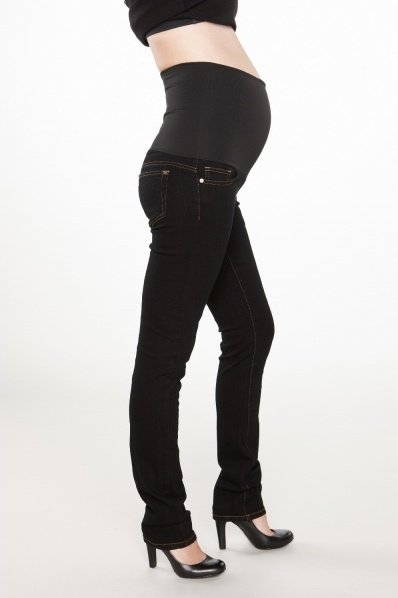 Skinny Belly Support Jeans-Black