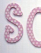 Pink Polka Dot Hanging Letters