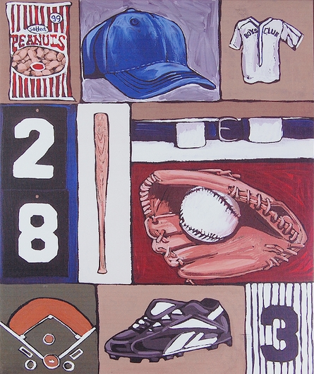 Baseball Canvas Reproduction