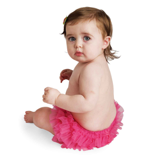 Mud Pie Wild Child Hot Pink Chiffon Bloomer