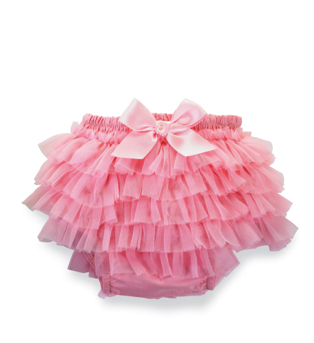 Mud Pie Pretty In Pink Light Pink Chiffon Bloomers