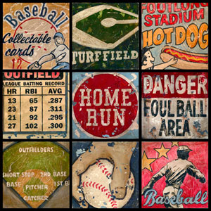 America's Favorite Pastime Canvas