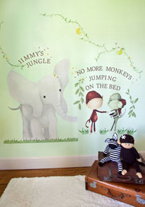 Elephant & Monkey Peel & Place Wall Stickers