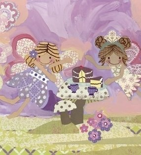 Fairy Tea Time Canvas Reproduction