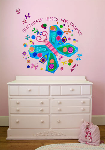 Jewel Butterfly  Peel & Place Wall Stickers