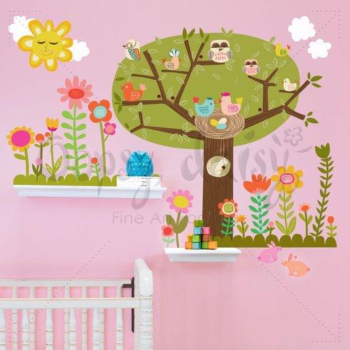 Bloomin' Birdies Peel & Place Wall Stickers