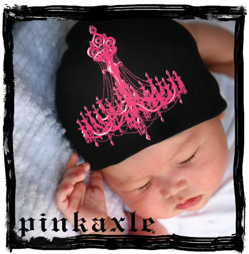 Pink Axle Black Hat w/ Pink Chandelier