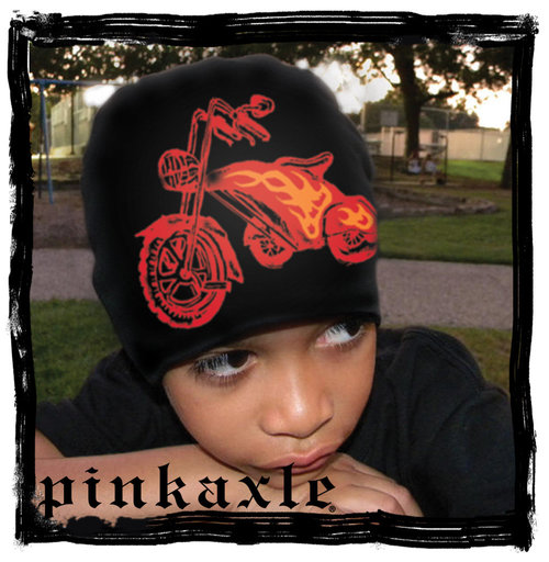 Pink Axle Black Hat Red Chopper Trike