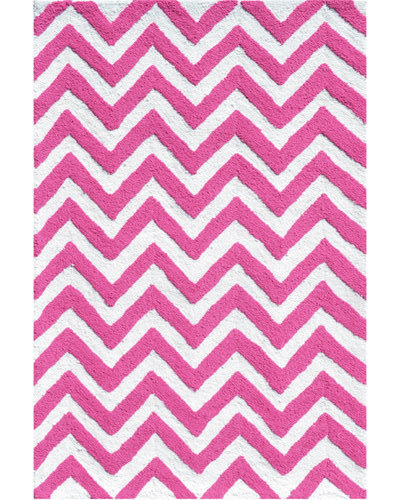 Chevron Rug - Pink