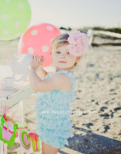 Prissy Piggies Couture Romper - Teal
