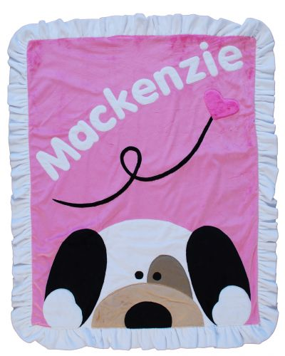Personalized PeekaBoo Puppy Blanket