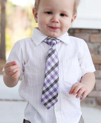 RuggedButts Purple Plaid Tie