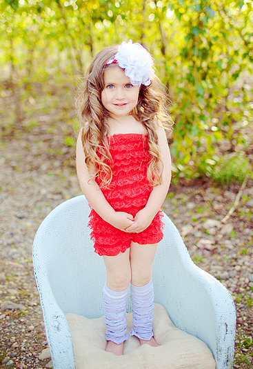 Prissy Piggies Couture Rompers-Red