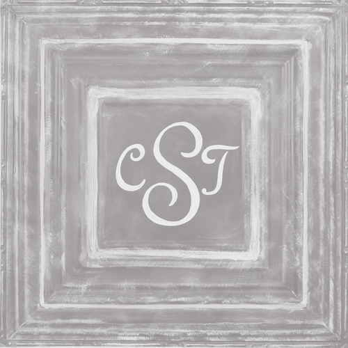 Square Metal Wall Plaque- Grey