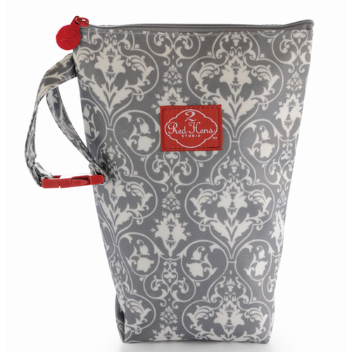 Diaper Pack- Grey Damask