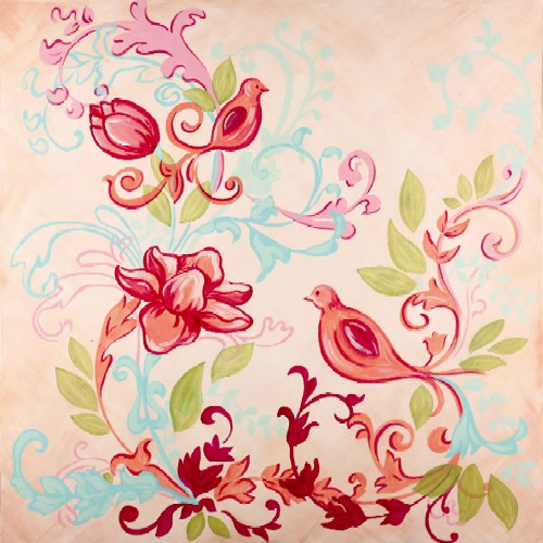 Boho Bird Hand Painted Canvas