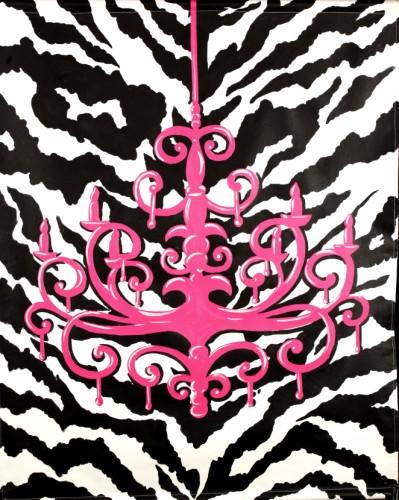 Zebra Chandelier Mural