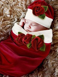 Santa Baby Cocoon & Hat Set