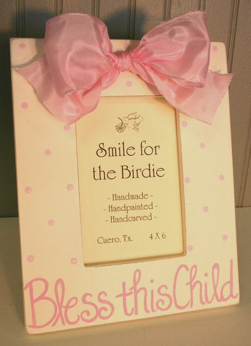 Bless This Child Frame- Pink