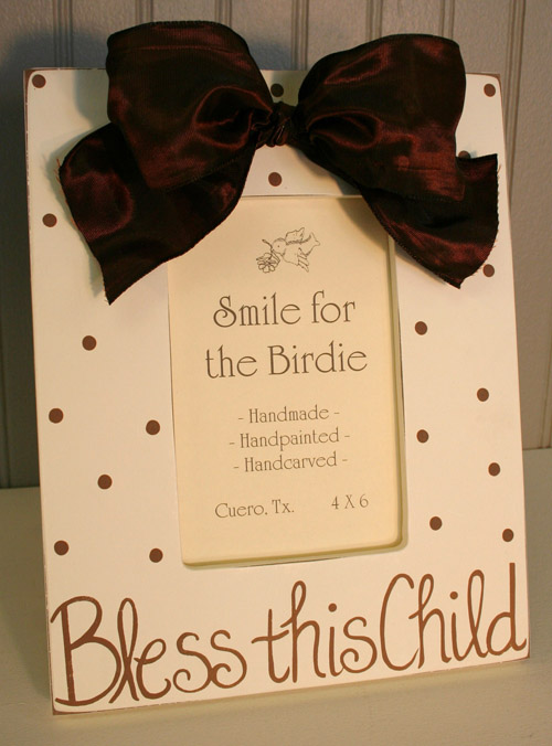 Bless This Child Frame - Brown