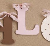 Pink & Chocolate Initials