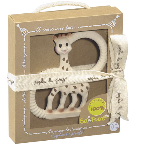 Sophie The Giraffe Vanilla Teething Ring - Gift Boxed!