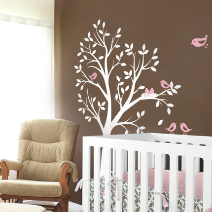 Tree w/ Birds & Nest Wall Decal