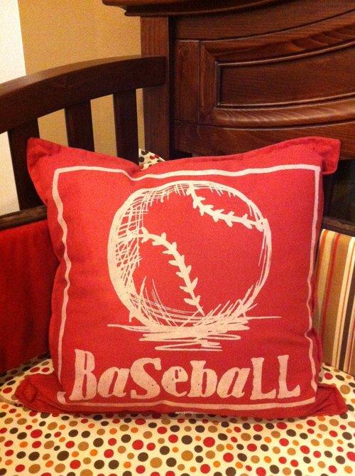 Twelve Timbers Baseball Pillow