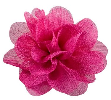 Chinese Rose Flower Clip Hot Pink