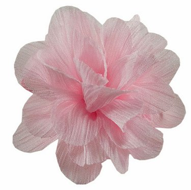 Chinese Rose Flower Clip Pink