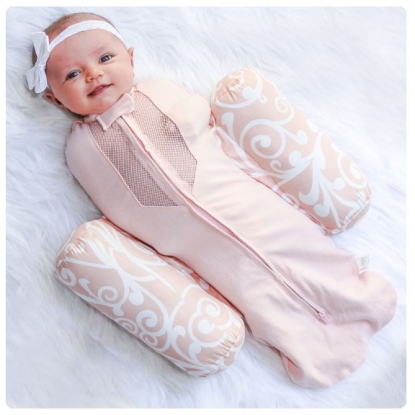 Woombie Plus Swaddle & Positioner - Pink